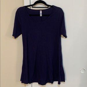 LulaRoe dark blue short sleeve tunic/dress